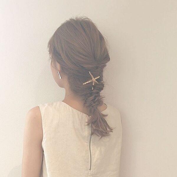 自分でできる結婚式の髪型3