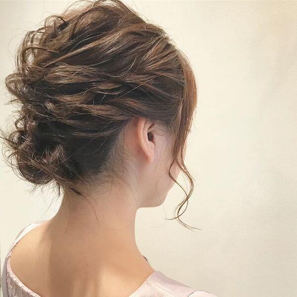 自分でできる結婚式の髪型7