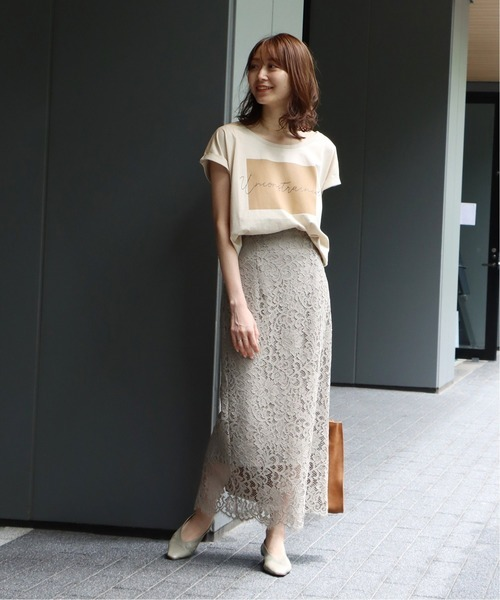 [Spick & Span] リバーレーススカート◆