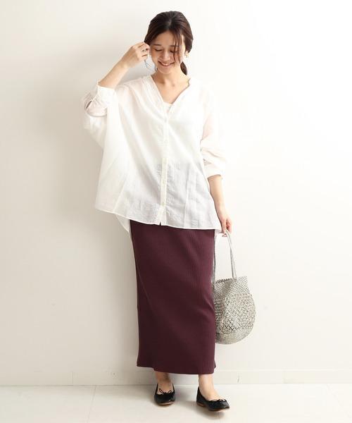 [IENA] TCリブタイトスカート【手洗い可能】◆