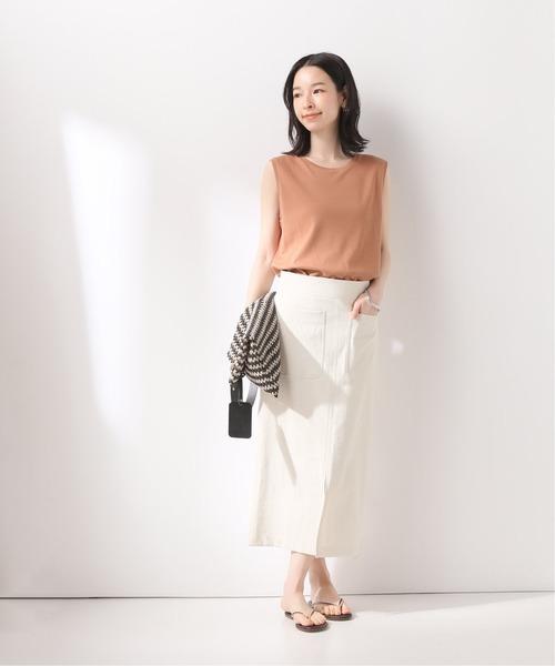 [Spick & Span] 綿麻タイトスカート◆