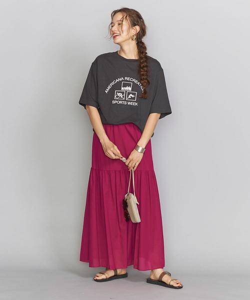 [BEAUTY&YOUTH UNITED ARROWS] 【別注】<Americana(アメリカーナ)>プリントTシャツ