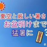 厳しい暑さ続く 来週は関東から西で猛暑日地点が急増