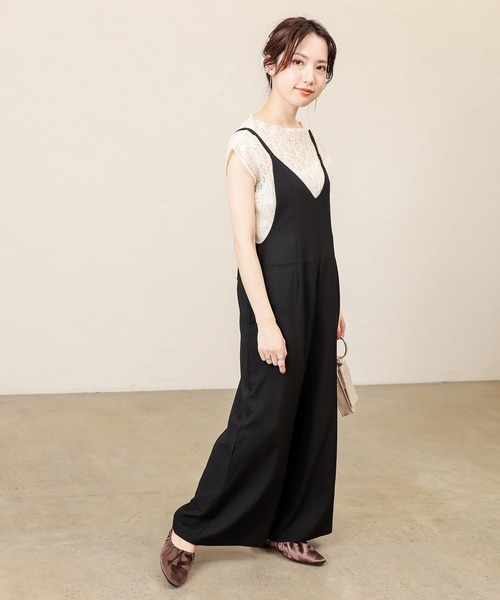 [natural couture] 大人シンプル2WAYサロペット