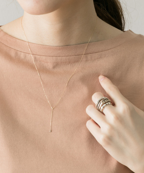 [URBAN RESEARCH] LES BON BON diamond Y necklace