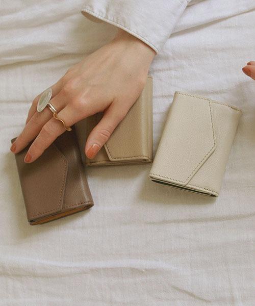 [CRICKET/TOPKAPI] 【EFOLE】シュリンクレザー バイカラー 三つ折り ミニ財布