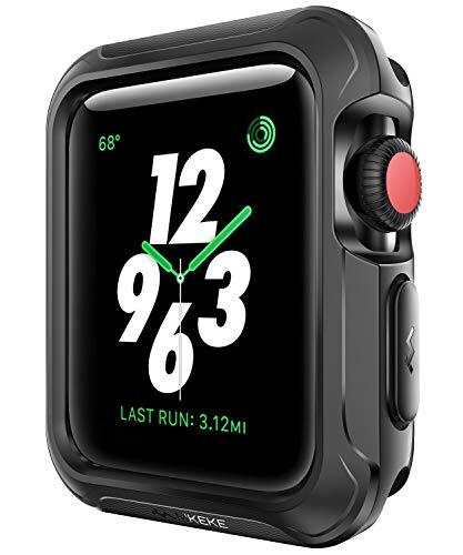 BOLAKER コンパチブル Apple watch保護ケース、ドロップや衝撃耐性!アップルウォッチ ケース、カバー、プロテクター、バンパー! iwatchケース・カバー、Apple Watch Series 5/4/3/2/1,nike+スポーツ運動系シリーズにも対応(ブラック) (40mm)