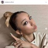 倖田來未、おすまし顔のお団子ヘア&ツヤリップSHOTに「可愛すぎる問題」「理想の輪郭」の声