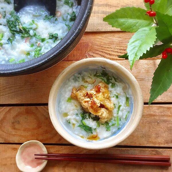 お粥の美味しい簡単アレンジレシピ☆七草粥