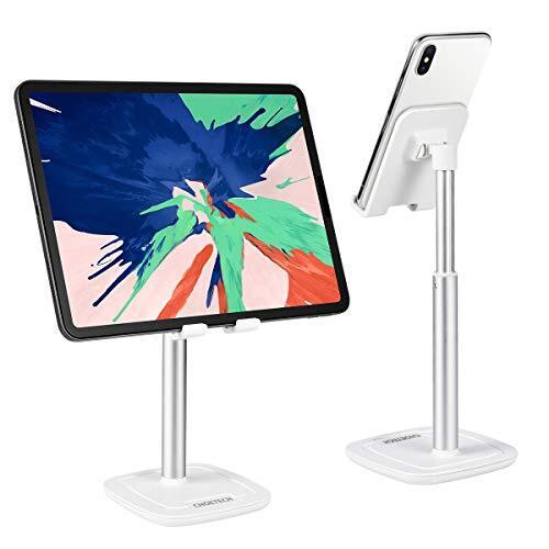 スマホスタンド タブレットスタンド 角度高さ調整可能 スマホホルダー PCホルダー iPadスタンド シリコン滑り止め 卓上 携帯 スタンド Switch, iPhone, Samsung, Sony, LG, Kindleなど(4-10インチ)に対応