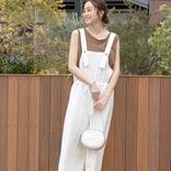 夏の白オーバーオールコーデ【2020】おしゃれな大人の着こなしを大公開♪