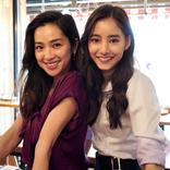 新木優子、中村アンとの密着ショットに「最高のバディ」