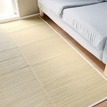 無印良品の「イ草ラグ」は吸湿性が抜群! 床のベタつきを抑えてくれて、素材の香りも落ち着くよ