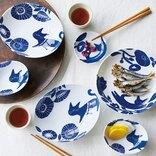 フェリシモ猫部™×coco.a猫が可愛い和柄皿でおいしい食卓