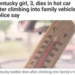 3歳女児、親の知らぬ間に車に乗り込み熱中症で亡くなる(米)