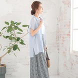 ブルーシャツ&ブラウスコーデ15選♡清涼感のあるカラーで爽やかスタイル