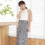 夏に着たい黒の花柄スカートコーデ【2020】大人女性に似合うおしゃれな着こなし♪