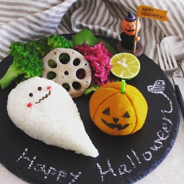 ハロウィン弁当に!かぼちゃのドライカレー