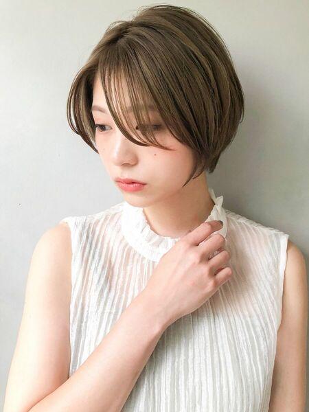 ミルクティーベージュの髪型【ショート・ショートボブ】2