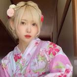 コスプレイヤー篠崎こころがキュートなピンク浴衣を披露「どこかお出かけしたくなっちゃいました」