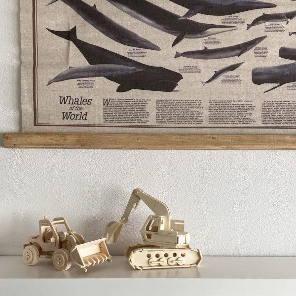 作る楽しさもあるクールな木製3D模型