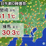 関東地方 今も一部で30度超 超熱帯夜の様相