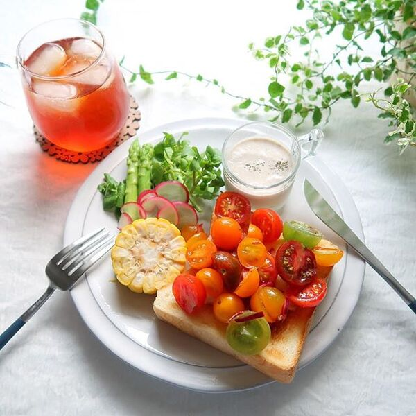 オープンサンドのおしゃれレシピ☆朝食2