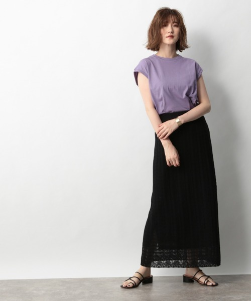 [apart by lowrys] CoフレンチスリーブTシャツ 914184