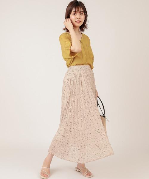 [natural couture] 【ZOZO限定】ほんのりシアー開襟ゆるシャツ