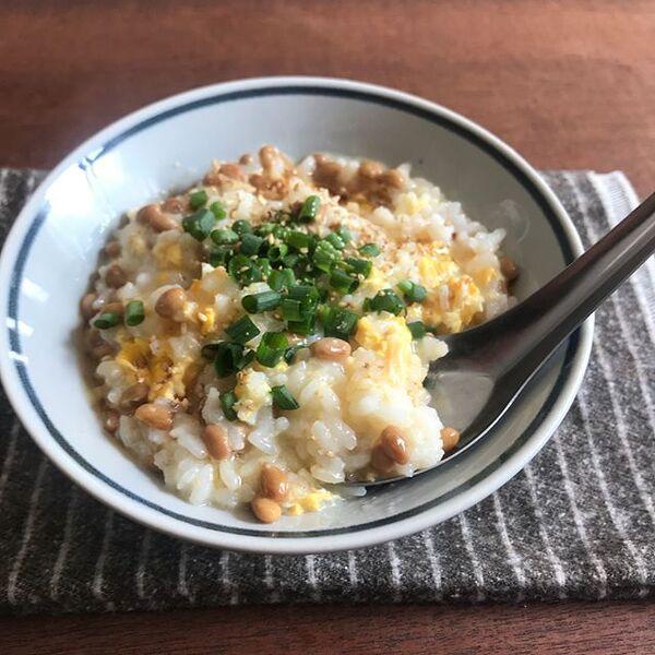 優しい和食!ふわとろ納豆雑炊