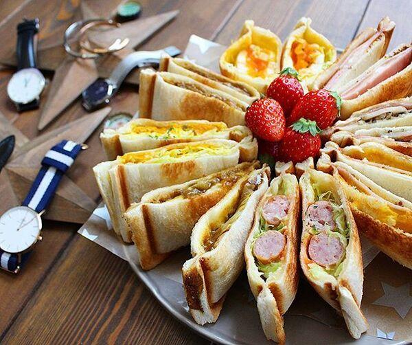 キャンプの朝食に!ホットサンド