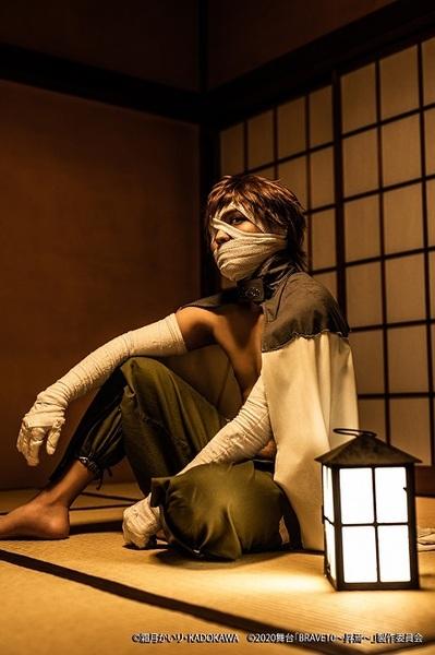 弐虎役:喜多野章太郎 (C)霜⽉かいり・KADOKAWA (C)2020 舞台「BRAVE10~昇焉~」製作委員会
