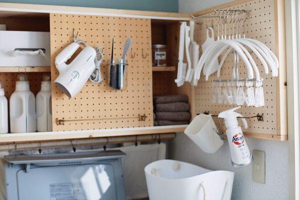 洗濯グッズやドライヤーなどの収納