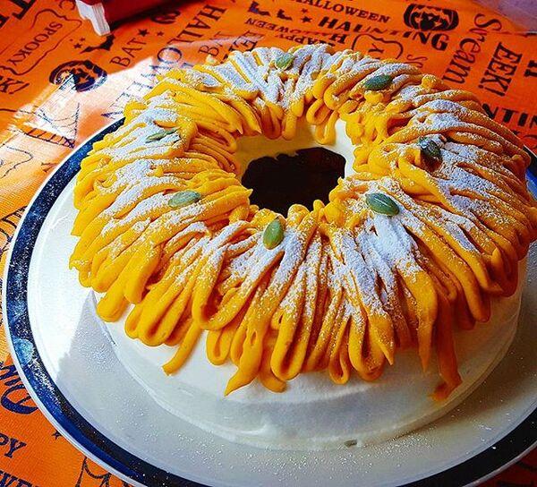 ハロウィンの可愛い手作りケーキ☆ホール