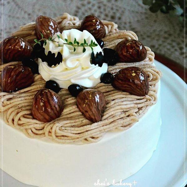 ハロウィンの可愛い手作りケーキ☆ホール12