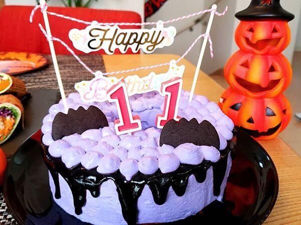 ハロウィンの可愛い手作りケーキ☆ホール13