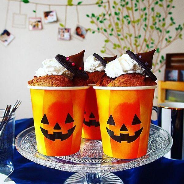 ハロウィンの可愛い手作りケーキ☆カップ系