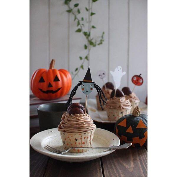 ハロウィンの可愛い手作りケーキ☆カップ系3