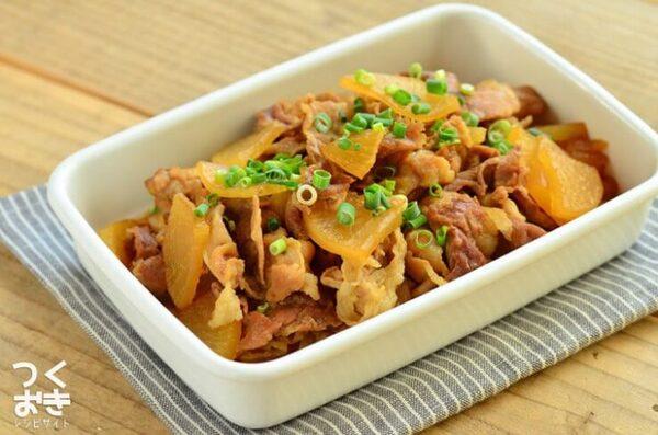 秋の肉料理に!簡単な豚肉と大根の炒め煮