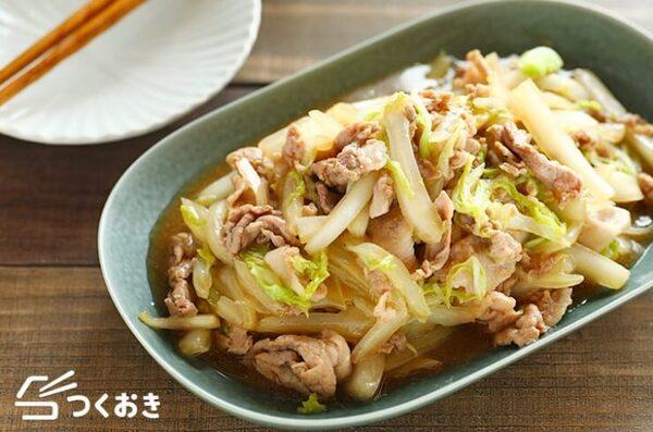 秋に人気の肉料理!豚肉と白菜の中華風炒め