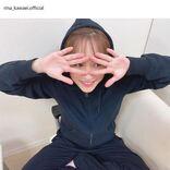 """「顔小っさ」川栄李奈、""""覗き見""""風ポーズの笑顔SHOTに反響「可愛いママ」"""