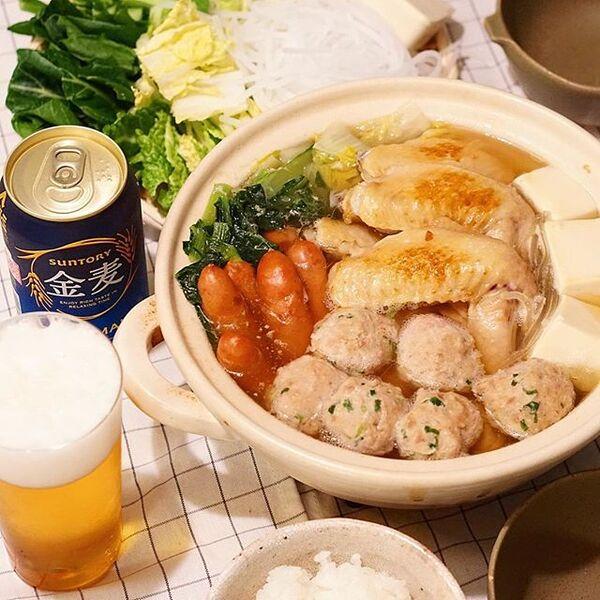 人気の具材で!美味しい鶏団子鍋