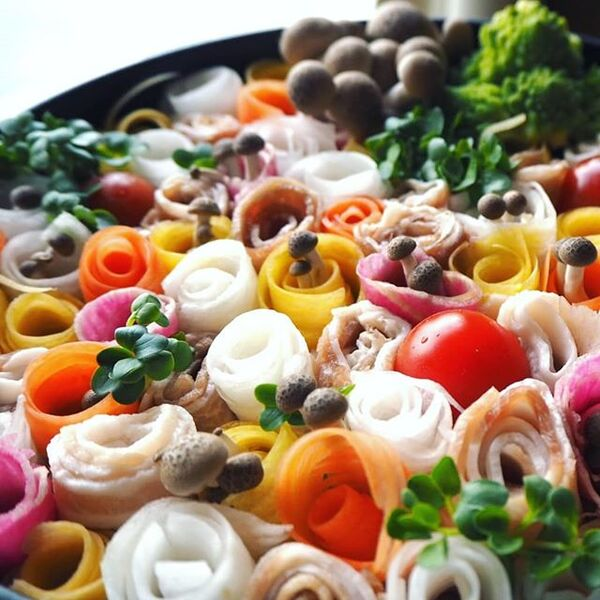 美味しいレシピ!栄養満点のお花畑鍋
