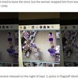 母親が会計中に赤ちゃんを誘拐しようとした男、一部始終が監視カメラに(米)<動画あり>
