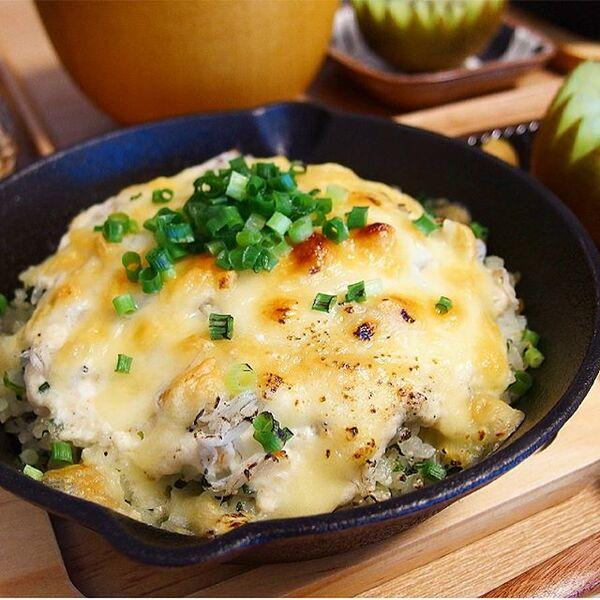 豆腐ホワイトソースの和風しらすドリア