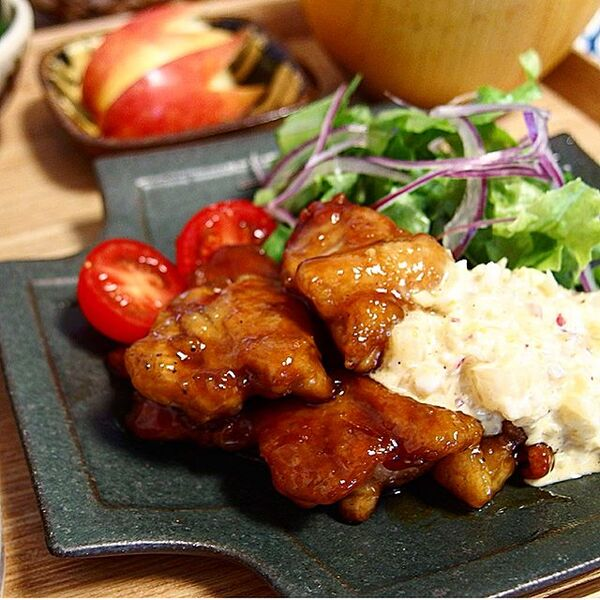 焼くだけ簡単な鶏もも肉レシピ☆主菜3