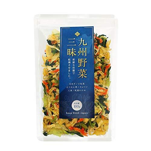 九州野菜三昧 乾燥野菜 国産 無添加 野菜5種類+わかめ ミックス 100g (1袋)