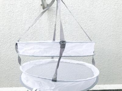 靴下やタオルハンカチなどは洗濯ネットで干すとラク