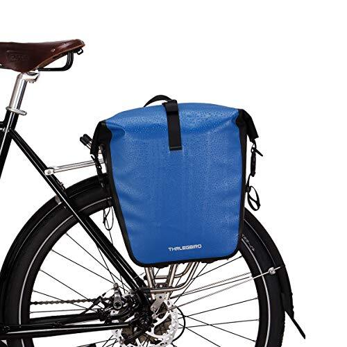 自転車 パニアバッグ リアバッグ サイドバッグ 防水 大容量 軽い バイク 収納バック 携行バッグ (ブルー, L)