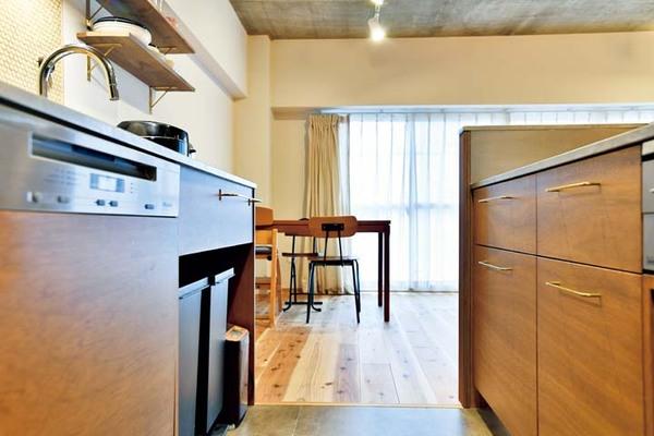 取っ手にもこだわった美的キッチン